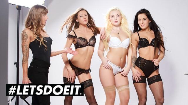 Silvia Dellai-Lovita Fate-Lexi Dona & Sybil in Lesbian Orgy